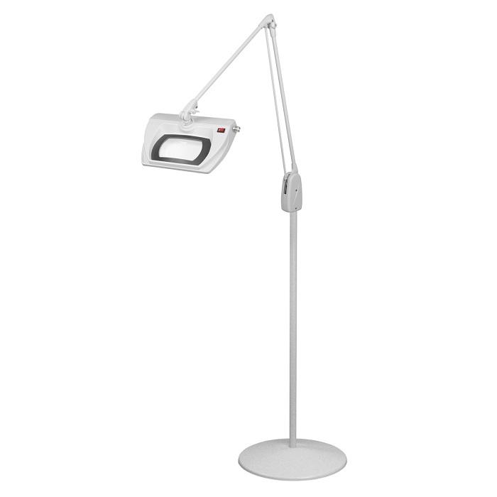 led stretchview pedestal floor stand magnifier lamp 42 in l1590. Black Bedroom Furniture Sets. Home Design Ideas