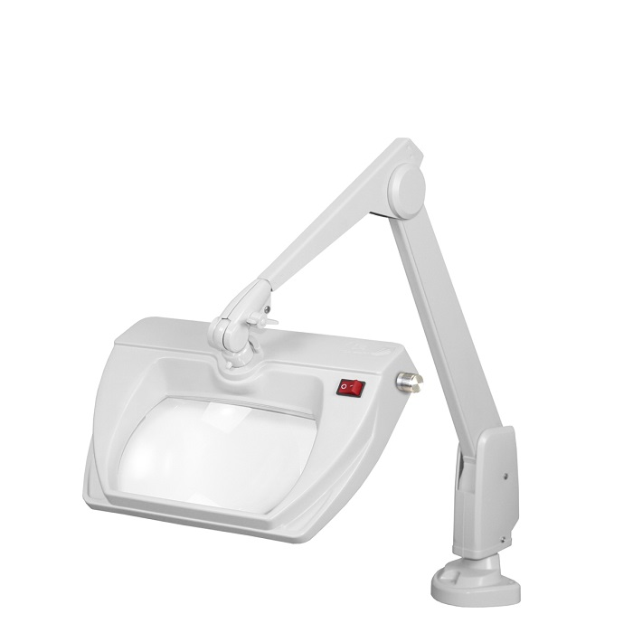 Dazor Led Stretchview Clamp Base Magnifier Lamp 28 In