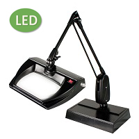 "LED Stretchview Desk Base Magnifier (33"") ESD-Safe"