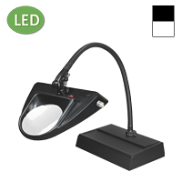 "LED Hi-Lighting Desk Base Magnifier (30"")"