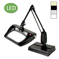"LED Stretchview Desk Base Magnifier (33"")"