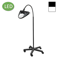 "LED Hi-Lighting Mobile Floor Stand Magnifier (30"")"