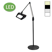 "LED Stretchview Pedestal Floor Stand Magnifier (43"")"
