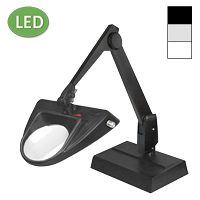 "LED Hi-Lighting Desk Base Magnifier (28"")"