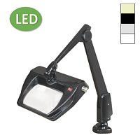 "LED Stretchview Clamp Base Magnifier (28"")"