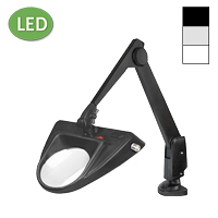 "LED Hi-Lighting Clamp Base Magnifier (28"")"