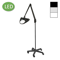 "LED Hi-Lighting Mobile Floor Stand Magnifier (42"")"