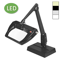 "LED Stretchview Desk Base Magnifier (28"")"