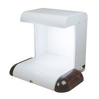 Spectrowave Cabinet White with Mahogany Side Pads